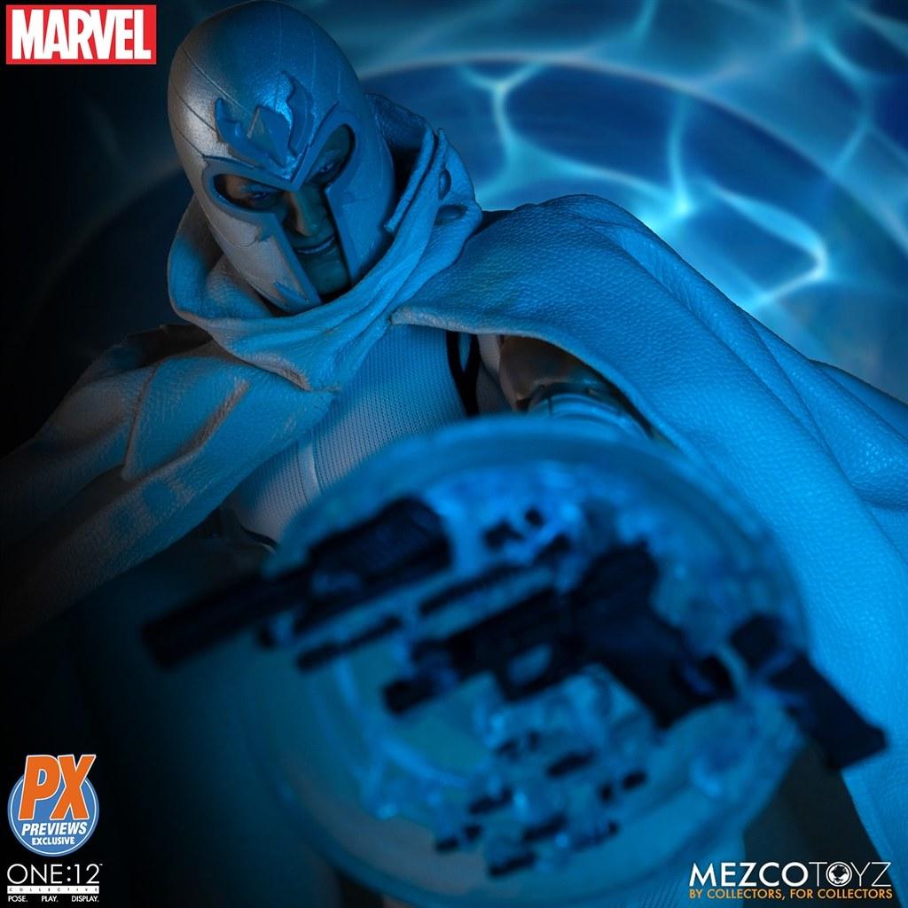 展現強大的磁力操縱!Marvel NOW! 白色萬磁王 Mezco One:12 Collective系列 PX Exclusive Magneto 1/12 比例人偶作品