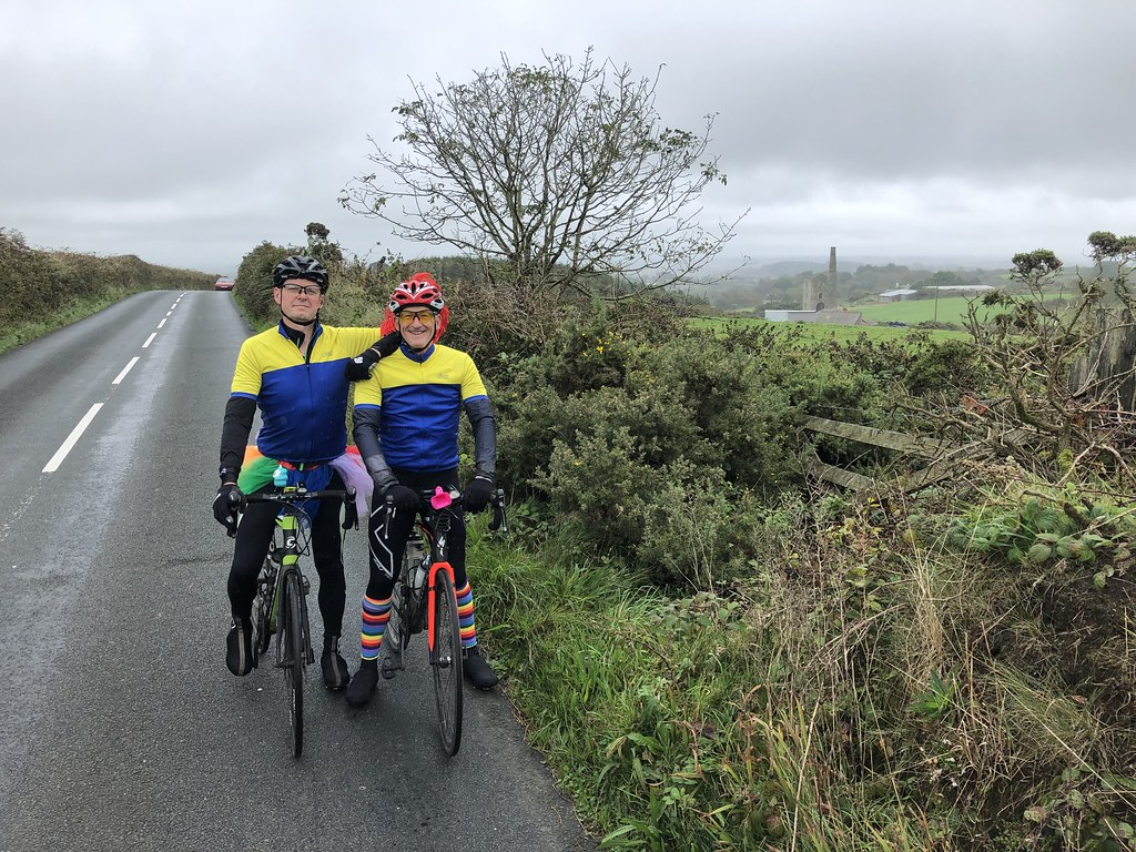 Darren and Mile in the middle of Cornwall