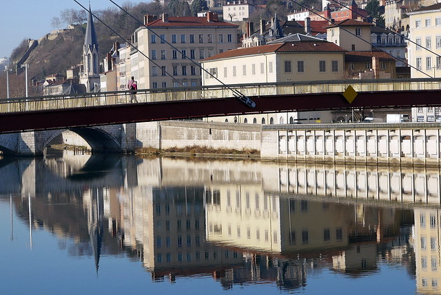Crossing the Saône river