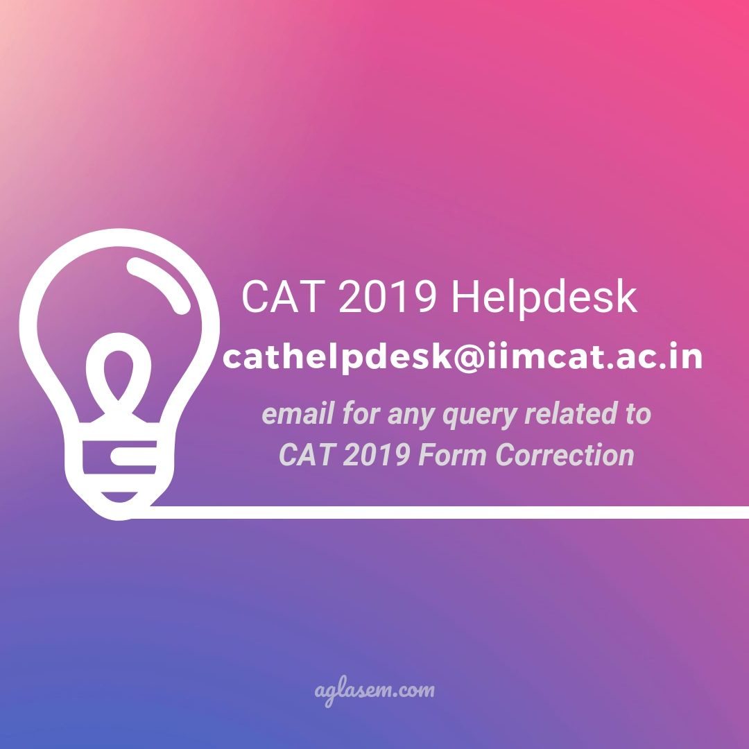 CAT 2019 For Correction