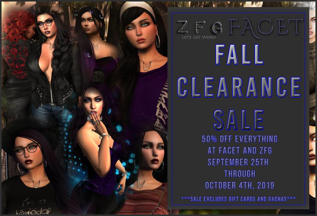 ZFG Facet Fall Clearance Sale
