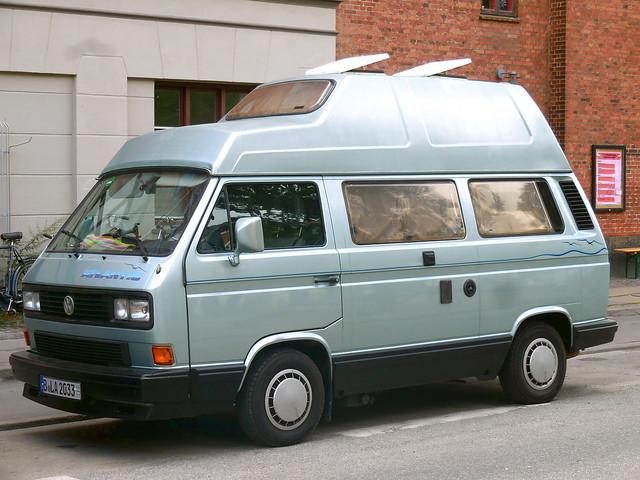 VW T3 Camper B-LA2033 German export plates