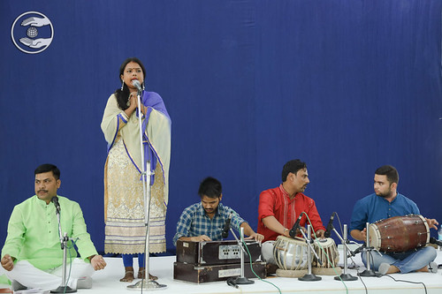 Devotee presented a devotional song