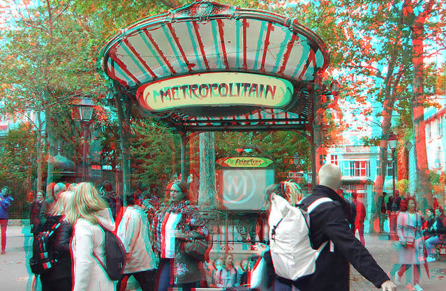 Abbesses metro dragonfly/intrance Edicule (Hector Guimard) Paris 3D