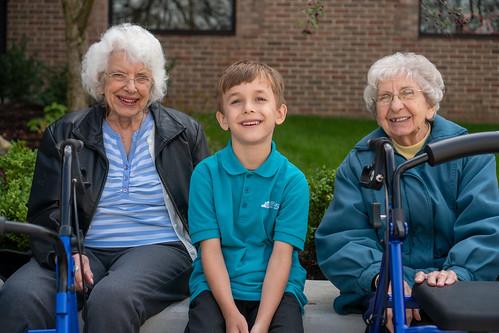 St. Robert students host neighbors from Sunrise Senior Living