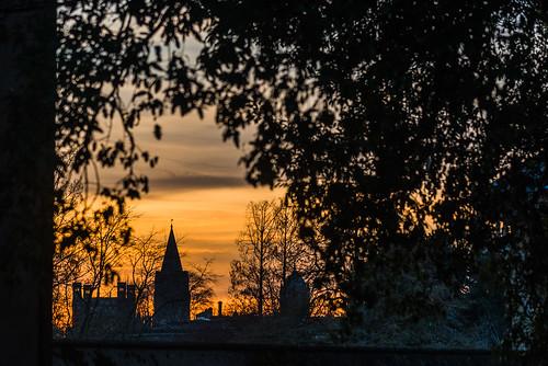 sunset england sky oxford oxfordshire twilight 英国 牛津 牛津大学