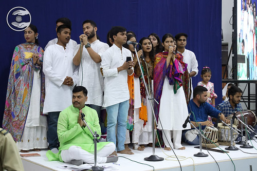 Gautam and Saathi presented a group song, Dehradun, UK