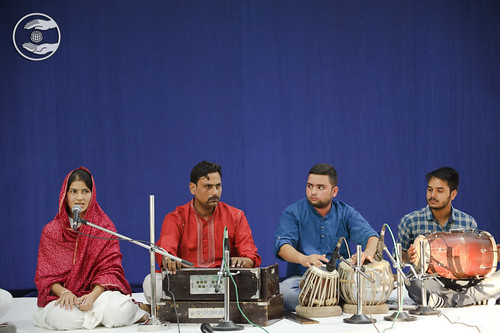 A group song presented by devotees