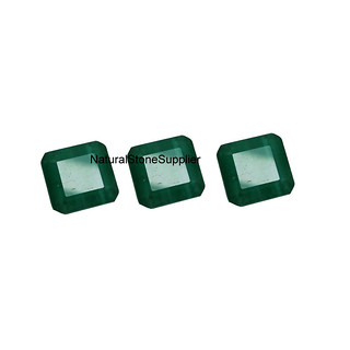 Natural Green Onyx Octagon Square Green Calibrated Gemstone,6/ 7/ 8/ 9/ 10/ 11/ 12/ 13/ 14/ 15mm Loose Gemstone