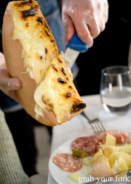 All-you-can-eat raclette at Loluk Bistro Surry Hills Sydney