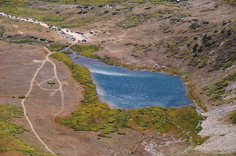 Looking down at Kite Lake from  Mount Cameron's southwest ridge (16)