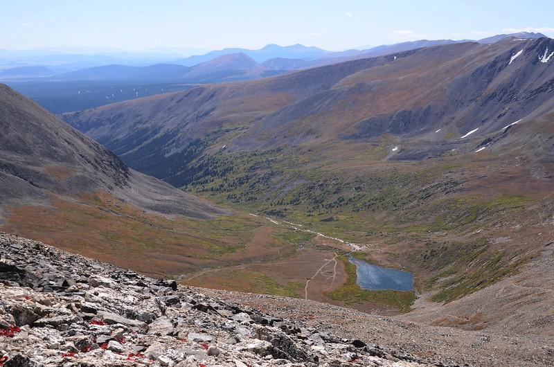 Looking down at Kite Lake from  Mount Cameron's southwest ridge (11)