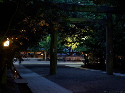 shrine japan olympus evening aichi traditional