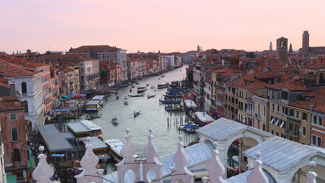 View from the top of the Fondaco dei Tedeschi - Canal Grande