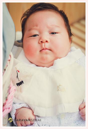 お宮参り 2か月の男の子赤ちゃん