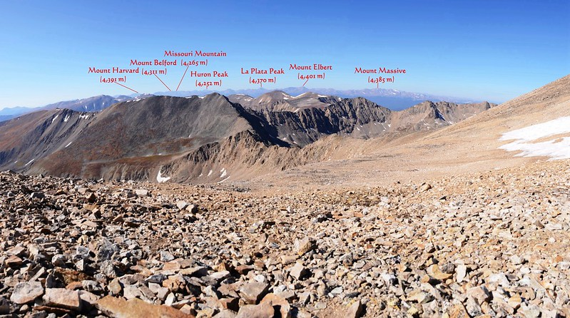 Looking southwest at mountains from Mount Democrat false summit 1_副本