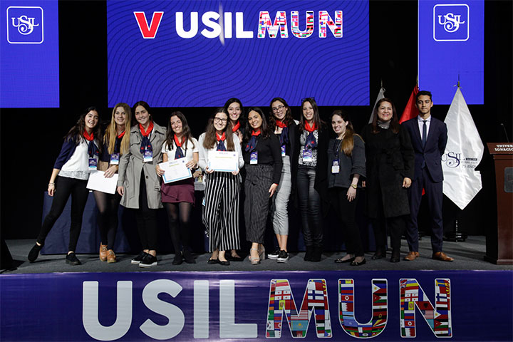 Facultad de Derecho realizó la V Edición del USILMUN School 2019