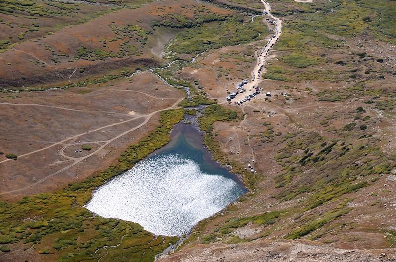 Looking down at Kite Lake from Kite Lake viewpoint (2)