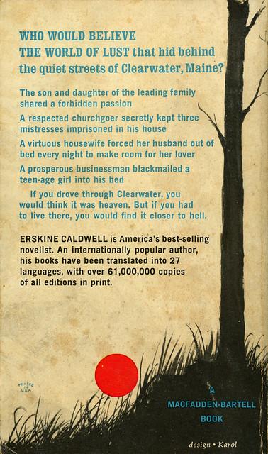Macfadden Books 50-241 - Erskine Caldwell - A Lamp for Nightfall (back)