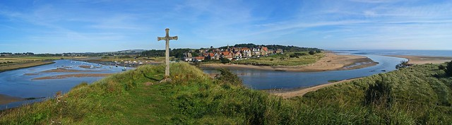 Alnmouth Panorama from Church Hill