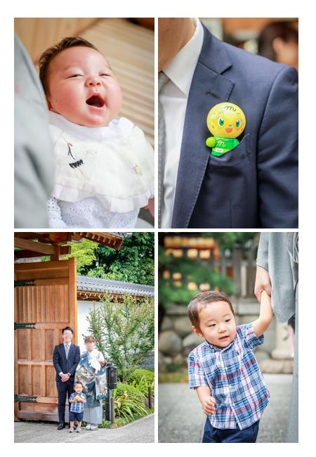 八事塩竈神社へお宮参り 笑顔の赤ちゃん