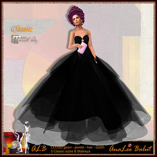 ALB CLOUD gown black set - Maitreya & Classic - Lamu Group Gift