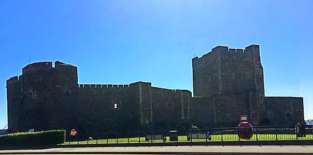 Carrickfergus Castle - against the light