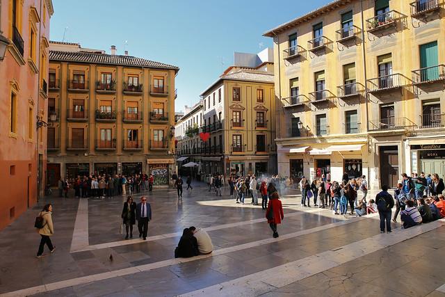 The cozy Plaza de las Pasiegas next to the Cathedral of Granada