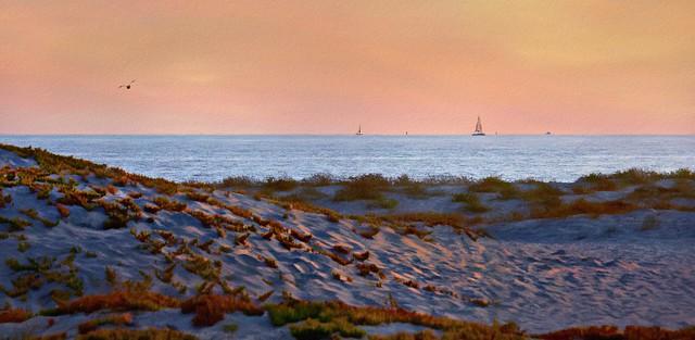 The Sea, The Sky, The Sailboats