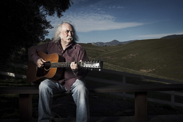 David Crosby by music photographer Michael Grecco