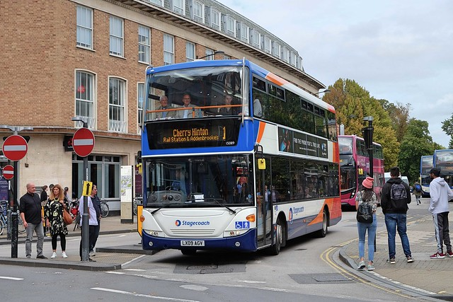 Stagecoach Cambus Ex-Stagecoach London Scania N230UD Omnicity 15089 LX09AGV in Cambridge