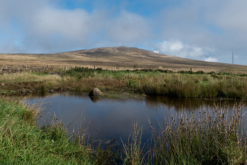 divis black mountain belfast hills northern ireland lake pond transmitter