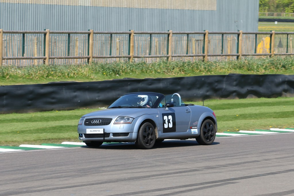 Oliver Beale, Audi TT at Goodwood (M Briggs)