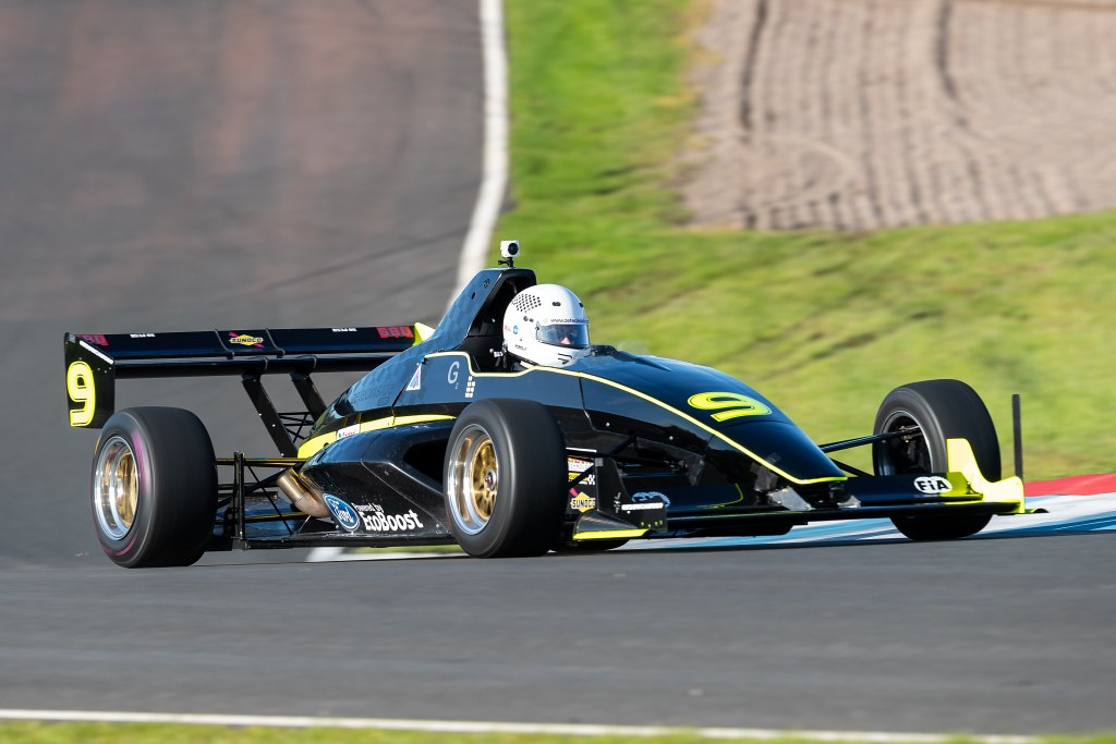 The Mygale M13 of Graham Blackwell at Knockhill (J Stewart)