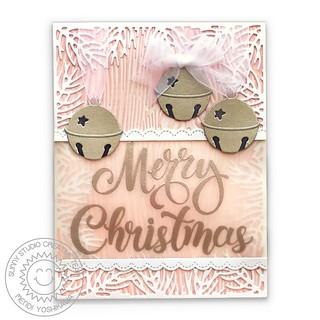 Sunny Studio Season's Greetings Silver Bells Card