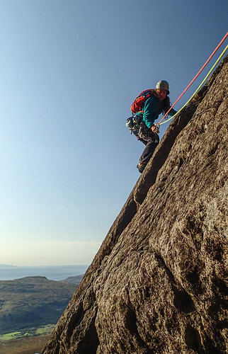 Sat, 2019-09-21 16:35 - Hayley descending Cioch