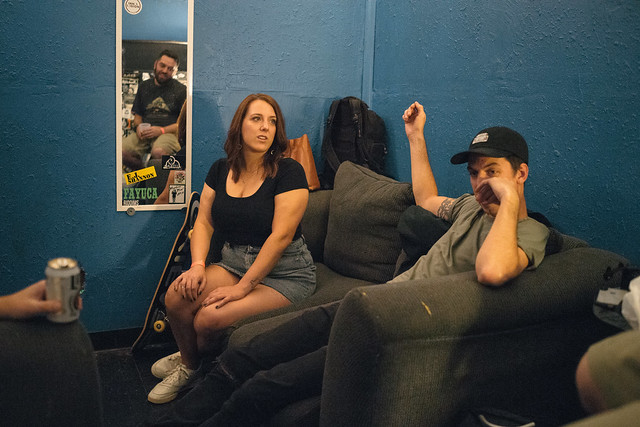 In the greenroom with Grieves and Mouse Powell.