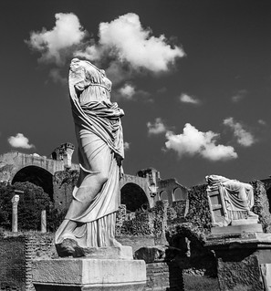 Vestal Virgin, The Forum, Rome, Italy