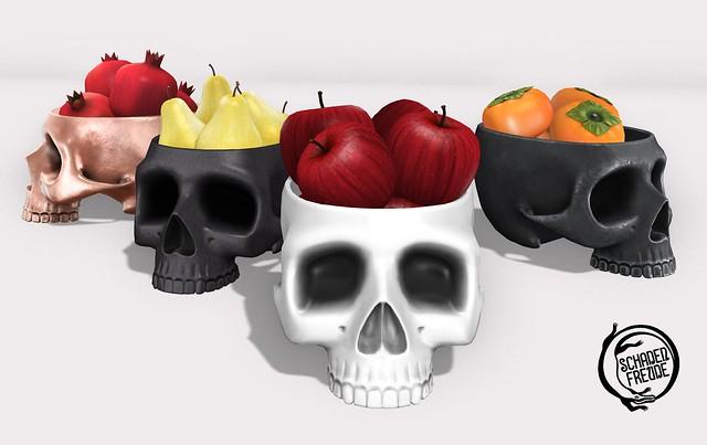 skull fruit bowl set 1