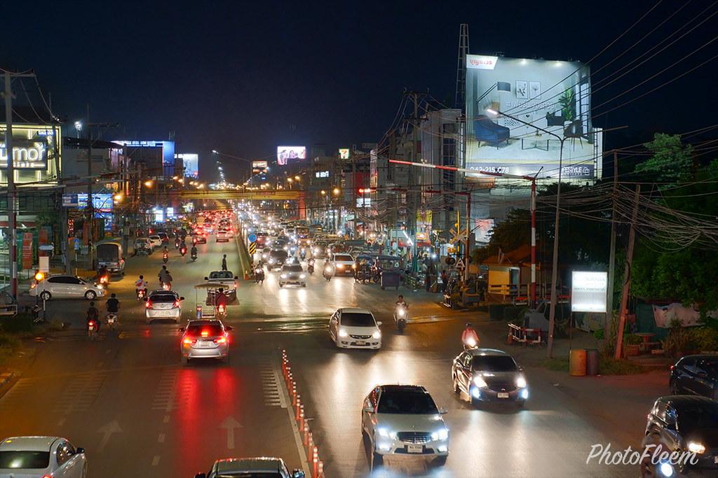ภาพถ่ายวิวกลางคืน กล้อง Fujifilm X-A7 เลนส์คิท 15-45mm