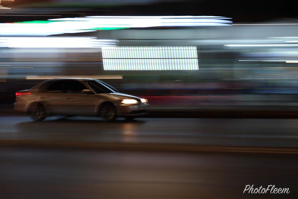 ภาพถ่ายกลางคืน กล้อง Fujifilm X-A7 เลนส์คิท 15-45mm