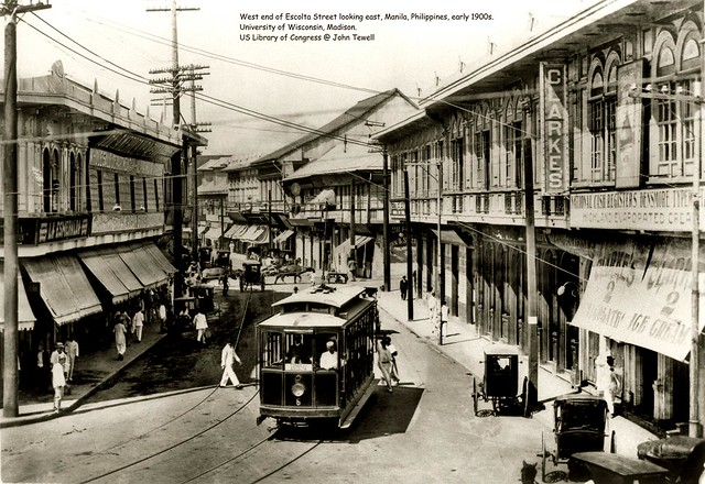 West end of Escolta Street looking east, Manila, Philippines, early 1900s