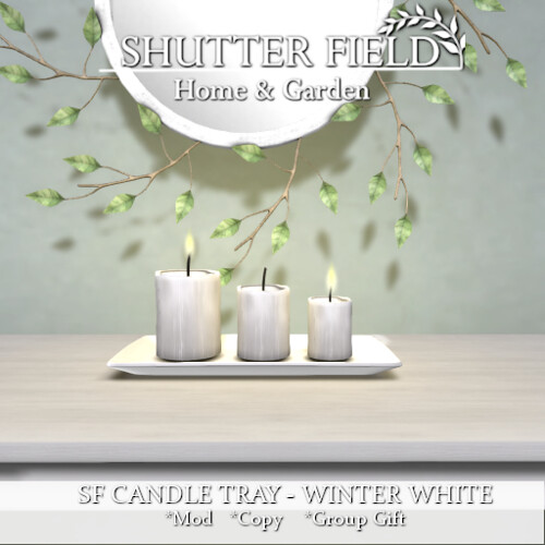 SF CANDLE TRAY - WINTER WHITE AD