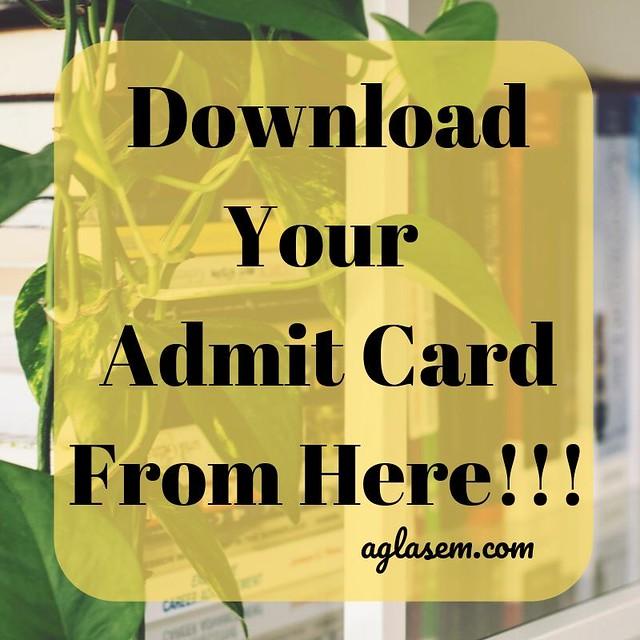 Ruk Jana Nahi 12th Admit Card December 2019