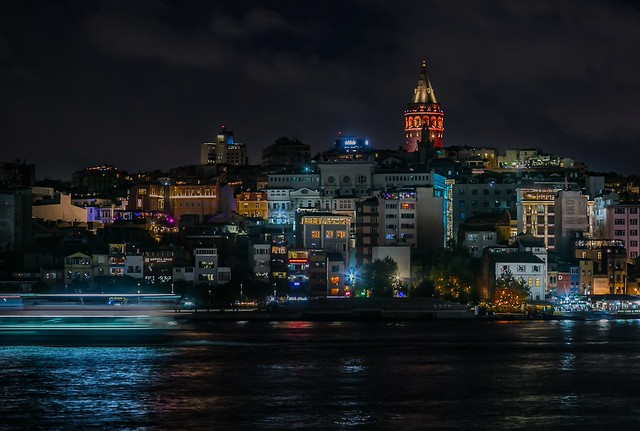 Night time in Istanbul. Magical city.