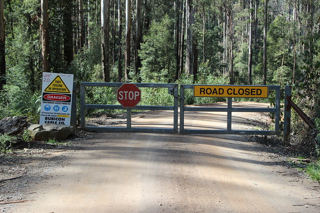 Entrance to logging areas in Rubicon Valley