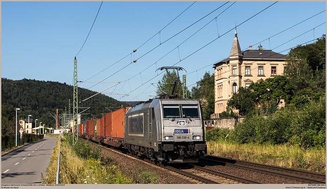 METRANS 386 038-4 @ Königstein (Sächsische Schweiz)
