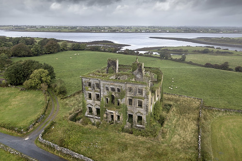 tyrone house galway ireland drone aerial abandoned decay ruin manor tyronehouse