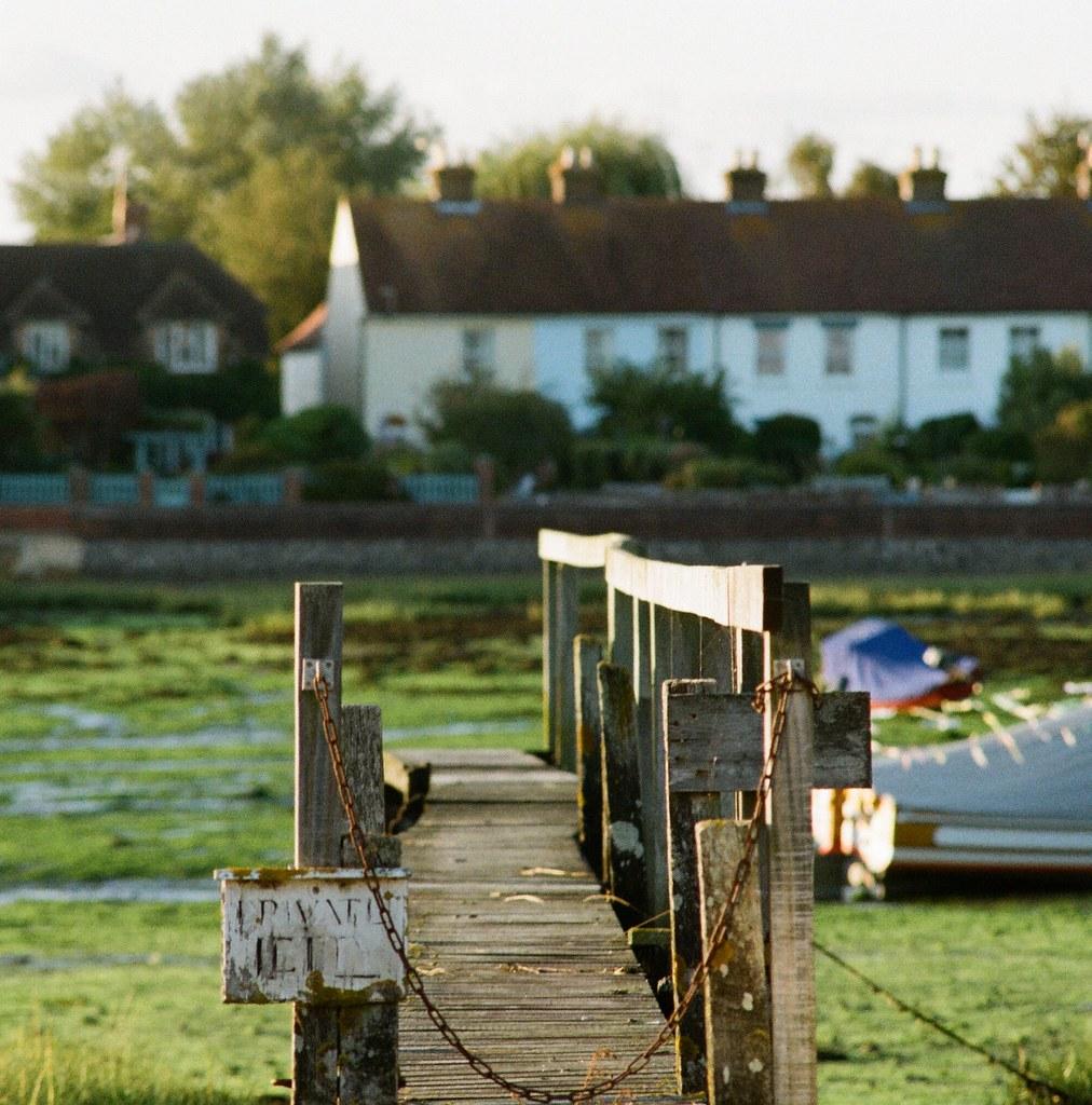 Walkway at Low tide, Bosham Harbour, West Sussex, UK