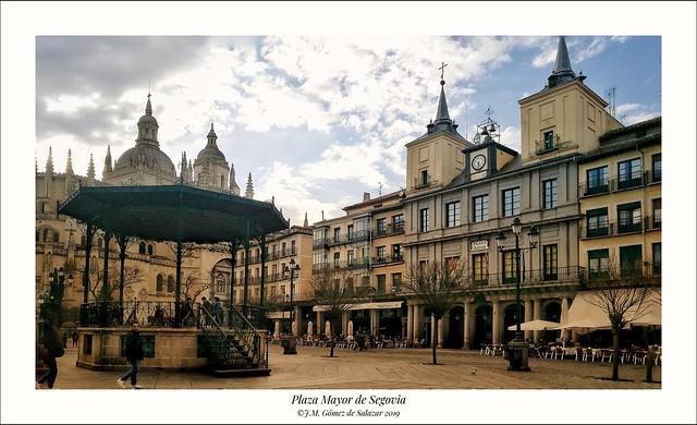 Plaza Mayor de Segovia / Segovia's Main Square. Castilla y León. Spain.